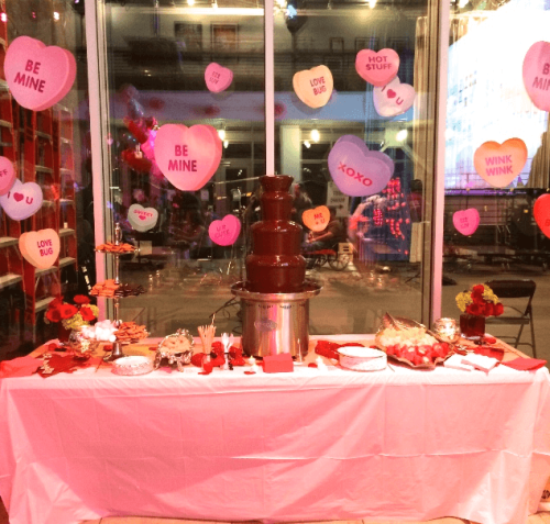 valentines day chocolate fountain rental